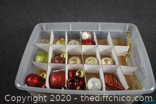 Christmas Ornaments + tote