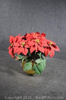Artificial Poinsettia Plant