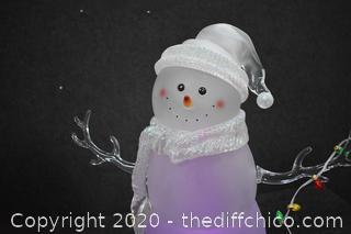 Working Light Snowman w/box
