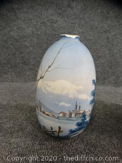Hand Painted Vase See Pictures Top Appears to be Chipped