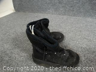 Black Boots Toddler Size 5 M
