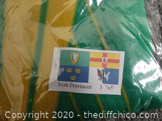 New 3'x5' Irish Provinces Flag