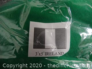 New 3'x5' Ireland Flag
