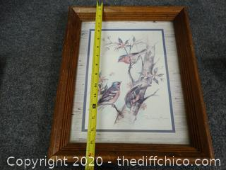 Signed Framed Art By Paul Whitney Hunter