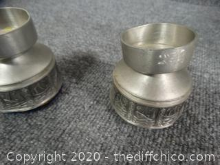 2 Selandi Pewter Made In Norway Candle Holders