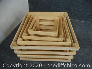 Set Of 4 Wood Crates