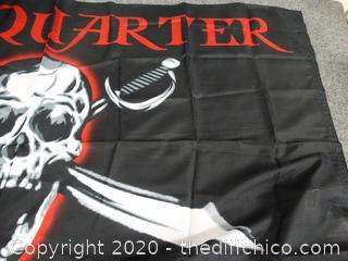 New 3'x5' No Quarter No Mercy Flag