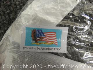 New 3'x5' Proud To Be American  Flag