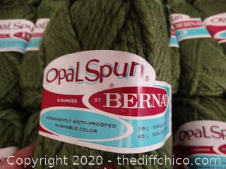 Box Of Olive Color Yarn New