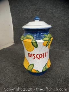 Biscotti Jar With Lid