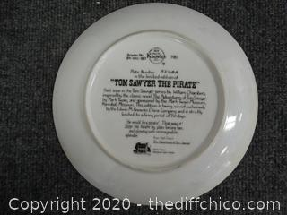 Tom Sawyer The Pirate Plate # 5860A
