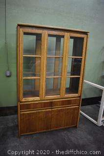 See Thru 2 Piece Hutch w/glass shelves