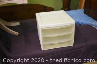 Plastic 3 Drawer Organizer
