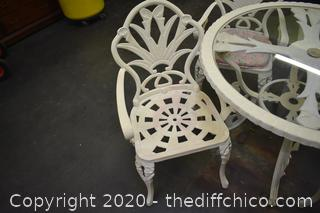 Cast Iron Patio Table plus 4 Chairs