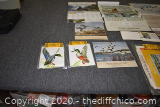 Collection of Vintage Duck Calendars, Prints and More