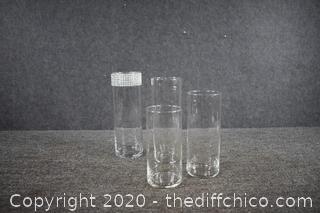 4 Glass Tubes / Vases