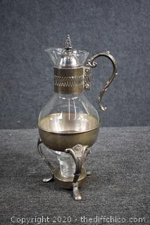 Vintage Coffee/tea/hot Beverage Carafe and Warmer Stand
