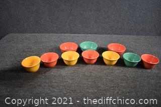 10 Melamine Bowls