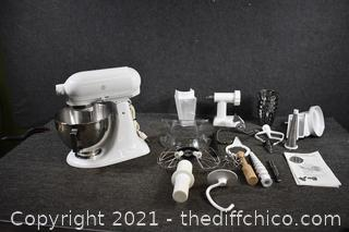 Kitchen Aid Working Mixer plus Attachments