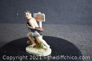 Norman Rockwell No Swimming Figurine
