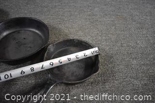 3 Cast Iron Skillets