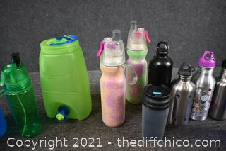 Large Assortment of Drink Containers