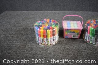Sidewalk Chalk and 2 Contains of PipSqueak Markers