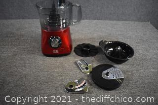 Working Kalorik Food Processor plus Attachments