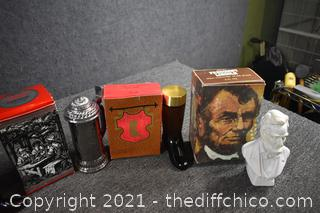 Lot of Full Avon Collectible Bottles
