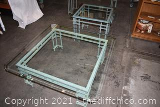 3 Glass Top Tables