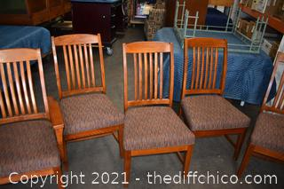 6 Mission Style Chairs