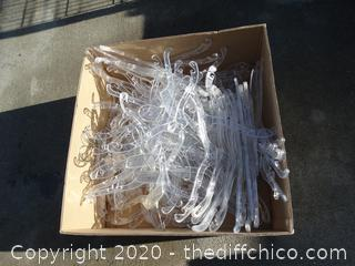 Large Box of Plastic Hangers