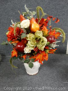 Fall Floral Arrangement in Vase
