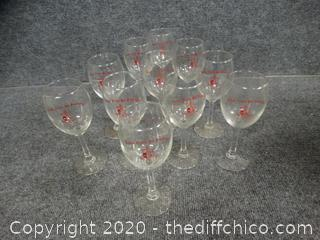 Kappa Alpha Psi Fraternity Wine Glasses