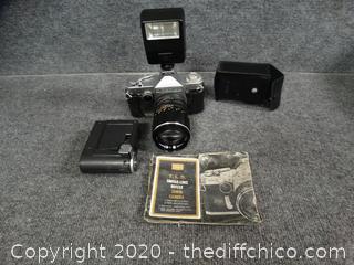 Sears TLS Single Lens Reflex 35mm Camera & Accessories