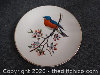N. American Songbird Signed Plate
