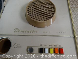 Vintage Portable Working Hair Dryer
