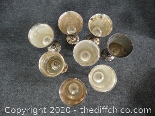 Vintage Leonard Silver Plated EPNS Wine Goblets