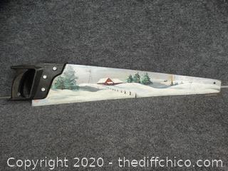 Decorative Saw Blade - Signed