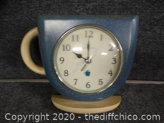 Ingraham Coffee Cup Clock
