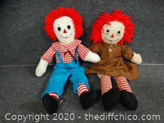 Raggedy Ann & Andy Dolls