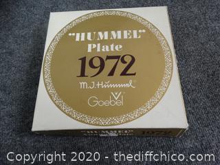 MJ Hummel W. Germany Plate - 1972