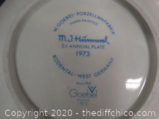 MJ Hummel W. Germany Plate - 1973
