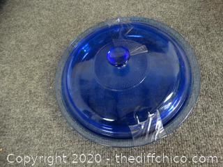 Blue Pyrex Bowl with Lid