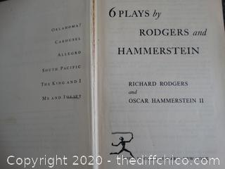 1942-1953 6 Plays by Rogers & Hammerstein Book