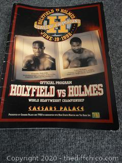 Holyfield vs. Holmes Official Program