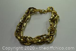 24K Gold Plate over Sterling Silver 925 Bracelet