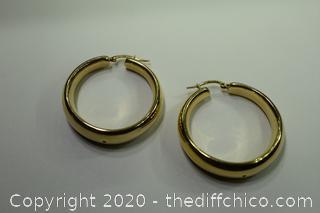 24K Gold Plate over Sterling Silver 925 Earrings