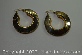 24K Gold Plate over Sterling Silver Earrings