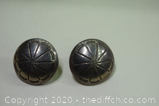 Pair of Sterling Silver Earrings